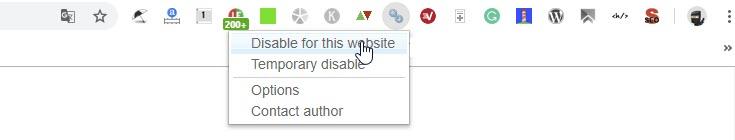 Chrome Extension NoFollow Disable